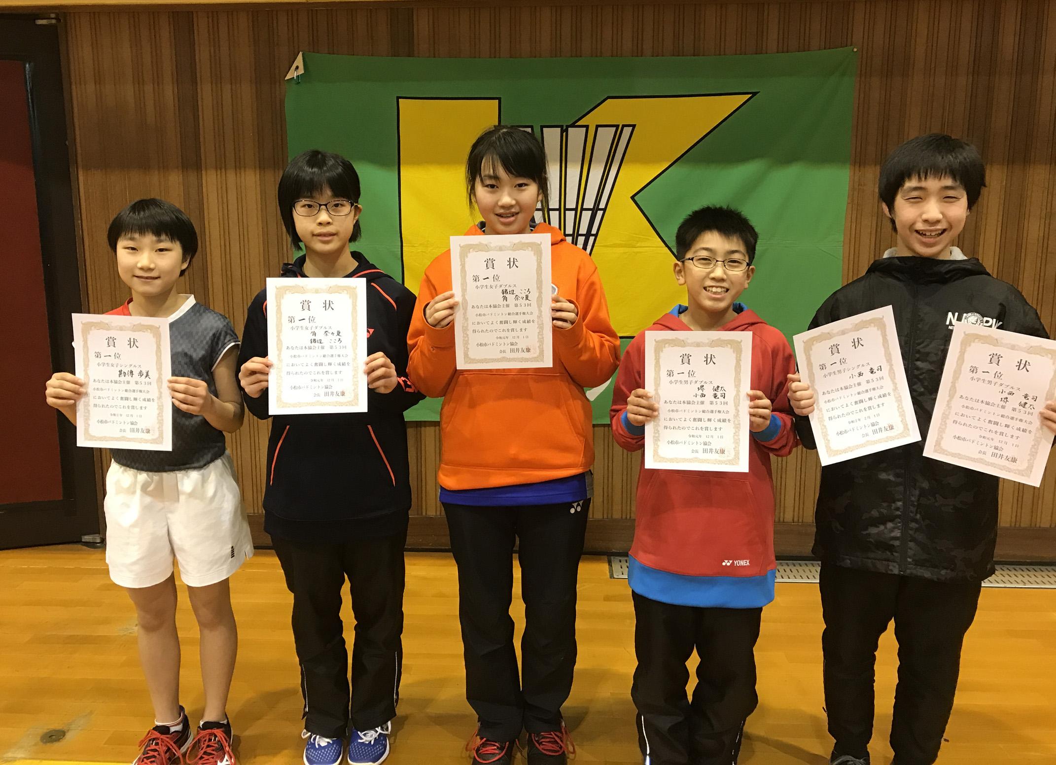 令和1年度第53回小松市総合選手権大会【小学校の部】2020年2月1日